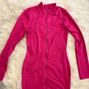 Fashion nova body con zip up dress